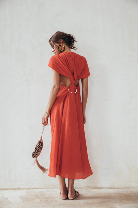 Artemisia Dress - Ruby