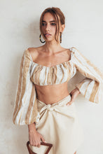 Clara Top - Natural Stripe (PREORDER)