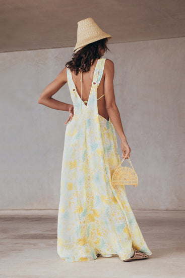 Sabine Gown - Lemonade Multi