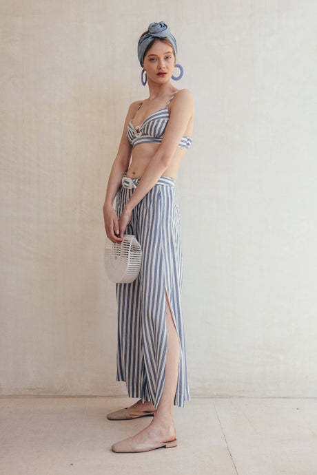 Mara Pant - Denim Stripe