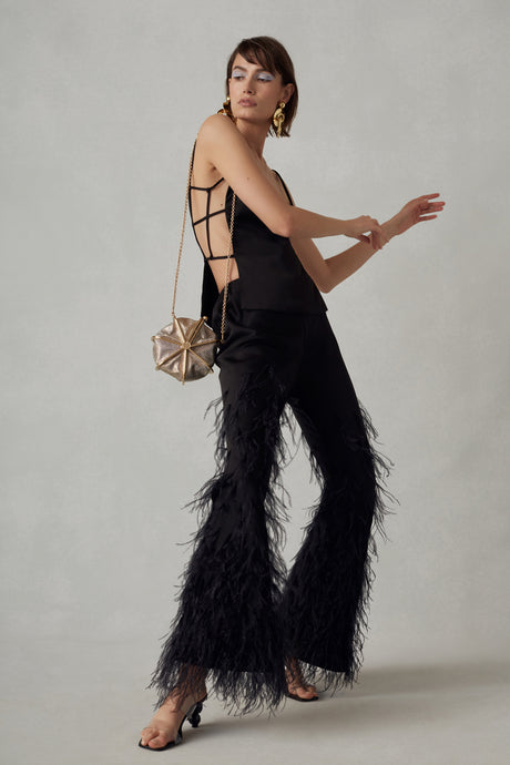Karis Feather Pant - Black