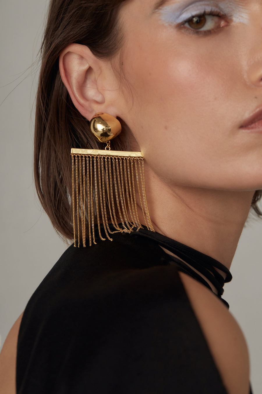 FARAH CHAIN EARRING - GOLD