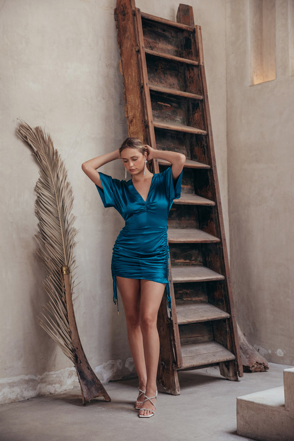 Fiona Dress - Teal