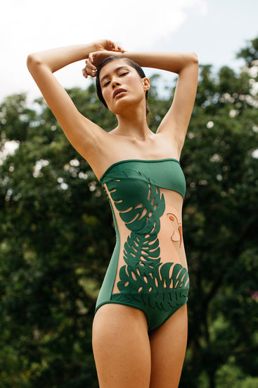 Sara One Piece - Green Multi