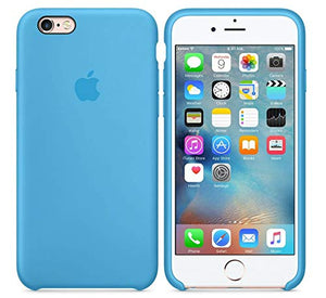 Funda iPhone Silicona Logo Azul Electrico