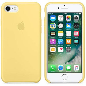 Funda iPhone Silicona Logo Amarillo Pastel