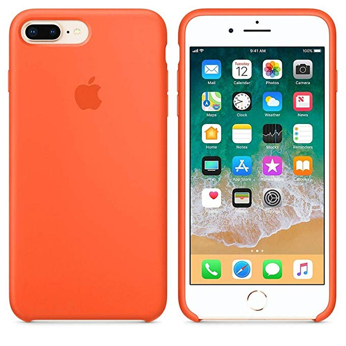 Funda iPhone Silicona Logo Naranja