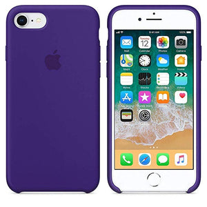 Funda iPhone Silicona Logo Morado