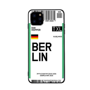 Funda iPhone Billete Avion Berlin