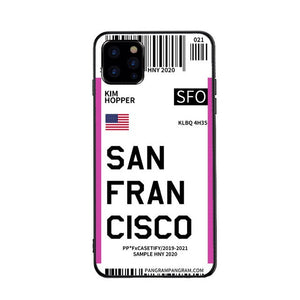 Funda iPhone Billete Avion San Francisco