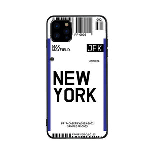 Funda iPhone Billete Avion New York