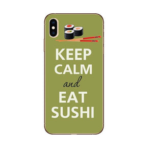 Funda iPhone Keep Calm And Eat Sushi