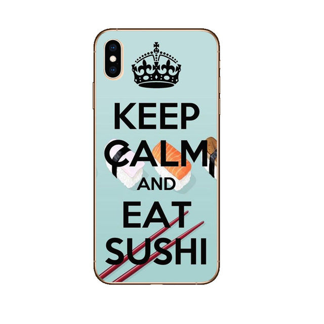 Funda iPhone Keep Calm And Eat Sushi 1