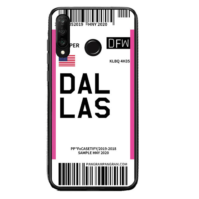 Funda Huawei Billete Avión Dallas