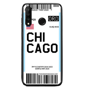 Funda Huawei Billete Avión Chicago