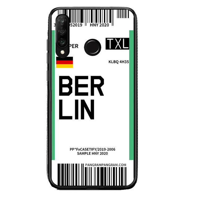 Funda Huawei Billete Avión Berlin