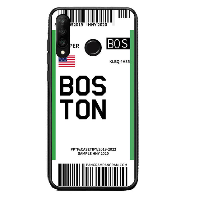 Funda Huawei Billete Avión Boston