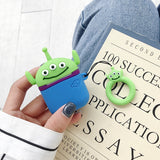 Funda AirPods 1/2 Toy Story Alien Silicona