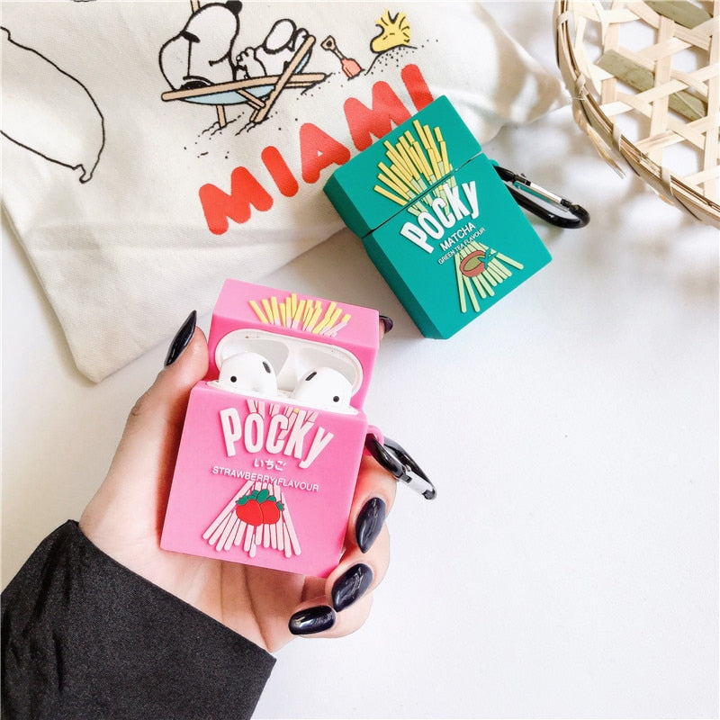 Fundas AirPods 1/2 Pocky Cookies Silicona