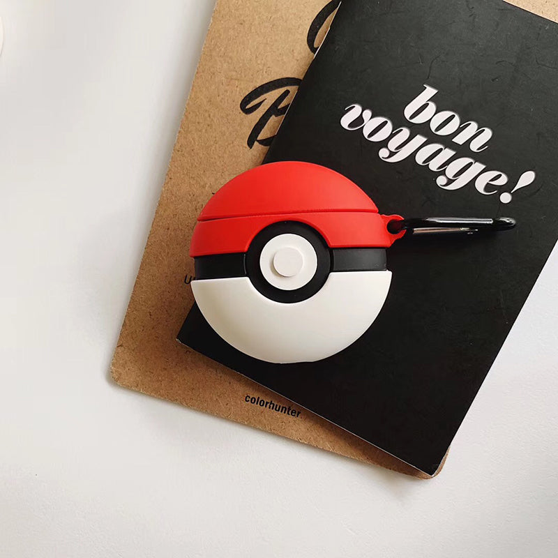 Funda AirPods 1/2 Pokeball Pokemon Silicona
