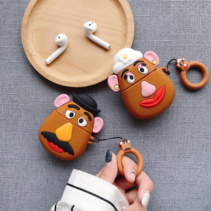 Fundas AirPods 1/2 Mr. Potato y Mrs. Potato Silicona
