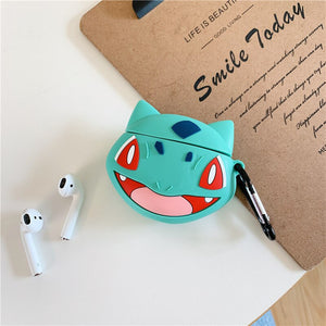 Fundas AirPods 1/2 Pokemon Bulbasaur Silicona