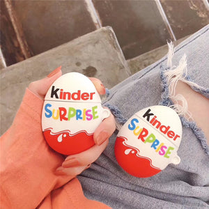 Funda AirPods 1/2 Chocolate Kinder Joy Surprise Silicona