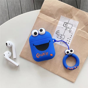 Funda Airpods 1/2 Barrio Sesamo: Cookie Monster & Elmo