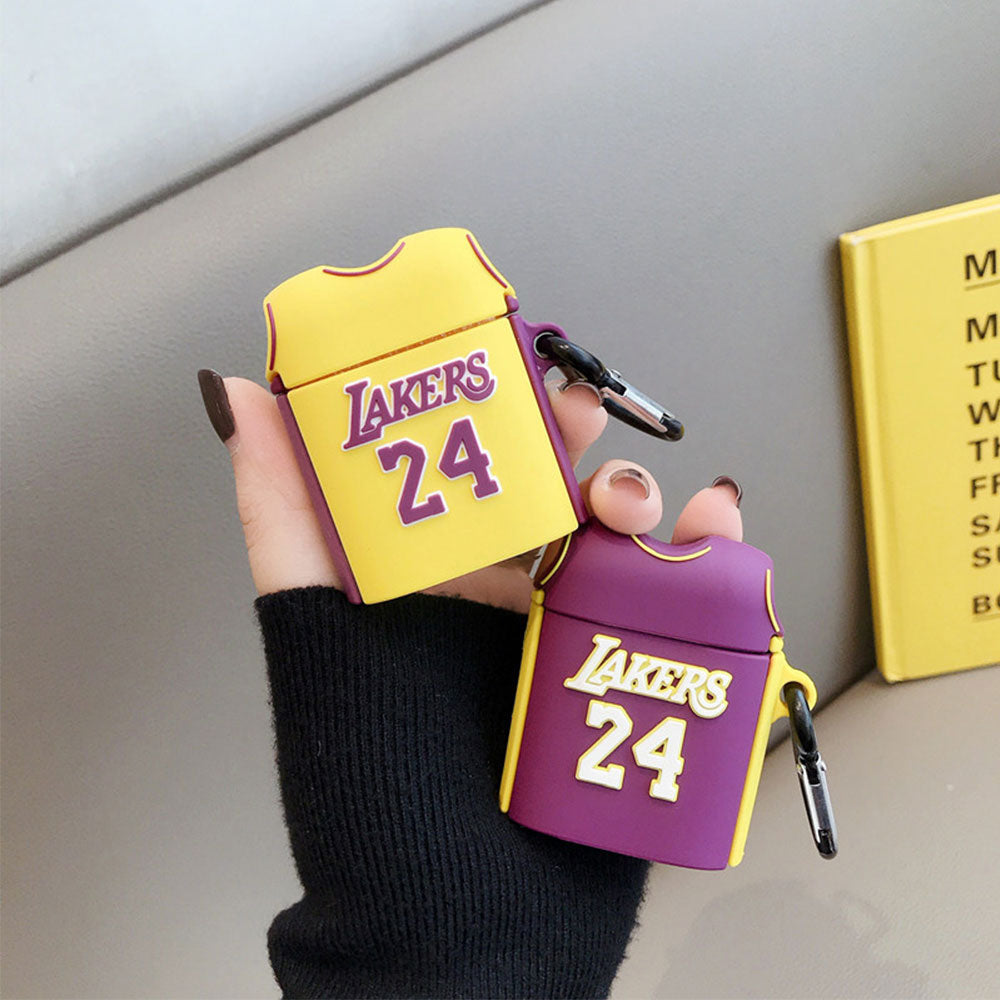 Fundas AirPods 1/2 Camisetas Lakers 24 Silicona