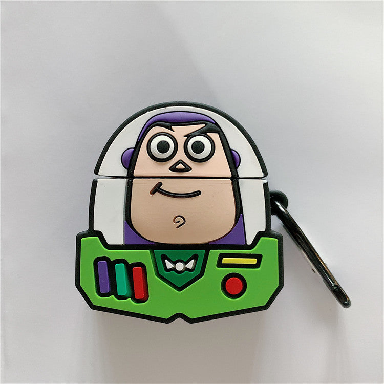 Fundas AirPods 1/2 Toy Story: Woody & Buzz Lightyear Silicona