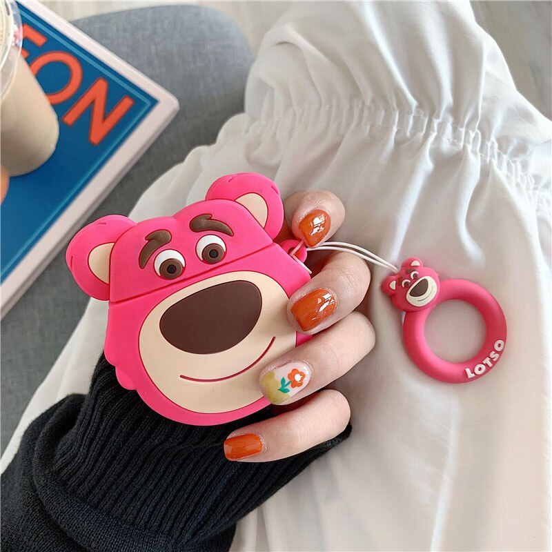 Fundas AirPods 1/2 Lotso Toy Story Silicona