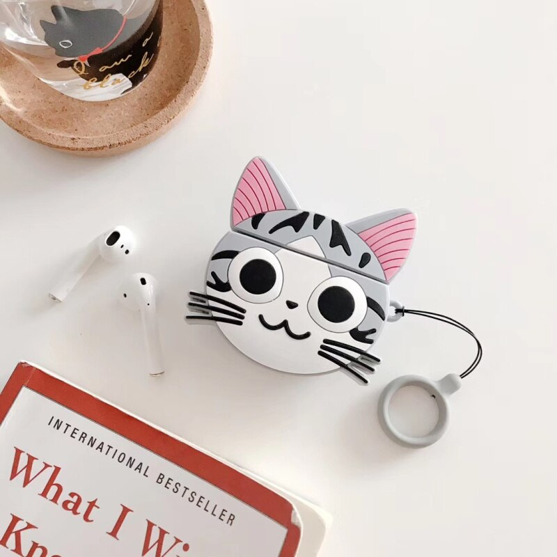 Funda AirPods 1/2 Chi's Cat Silicona