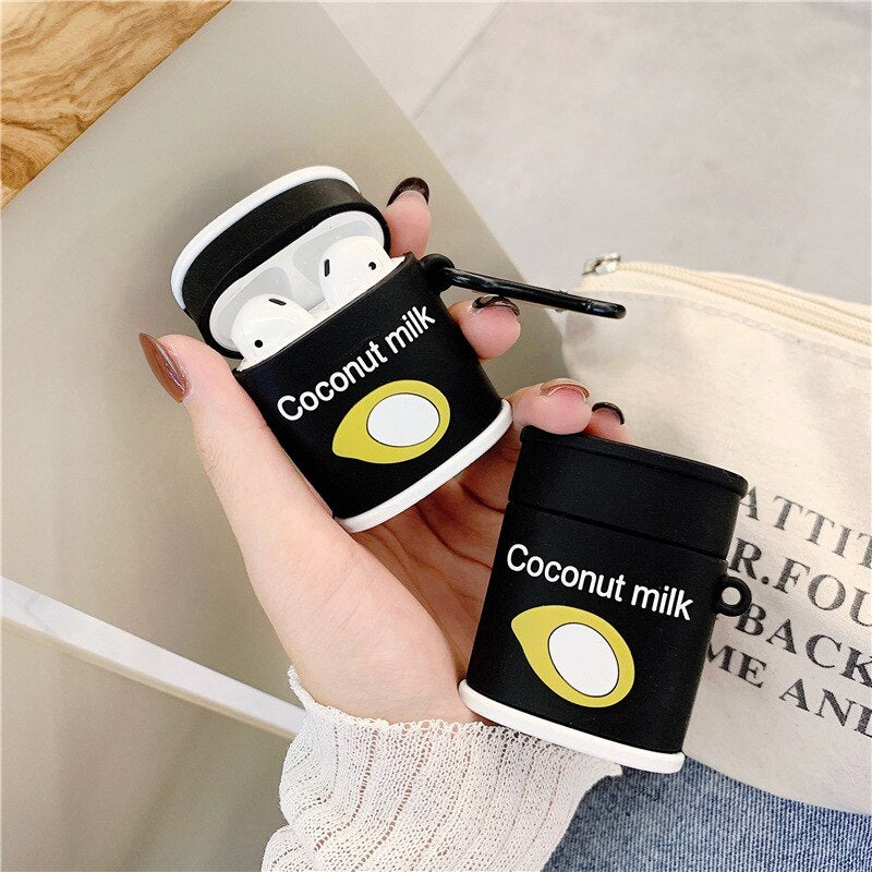 Fundas AirPods 1/2 Coconut Milk Juice Silicona