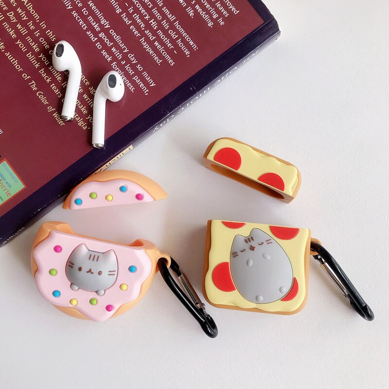 Fundas AirPods 1/2 Donut & Pizza Totoro Juice Silicona