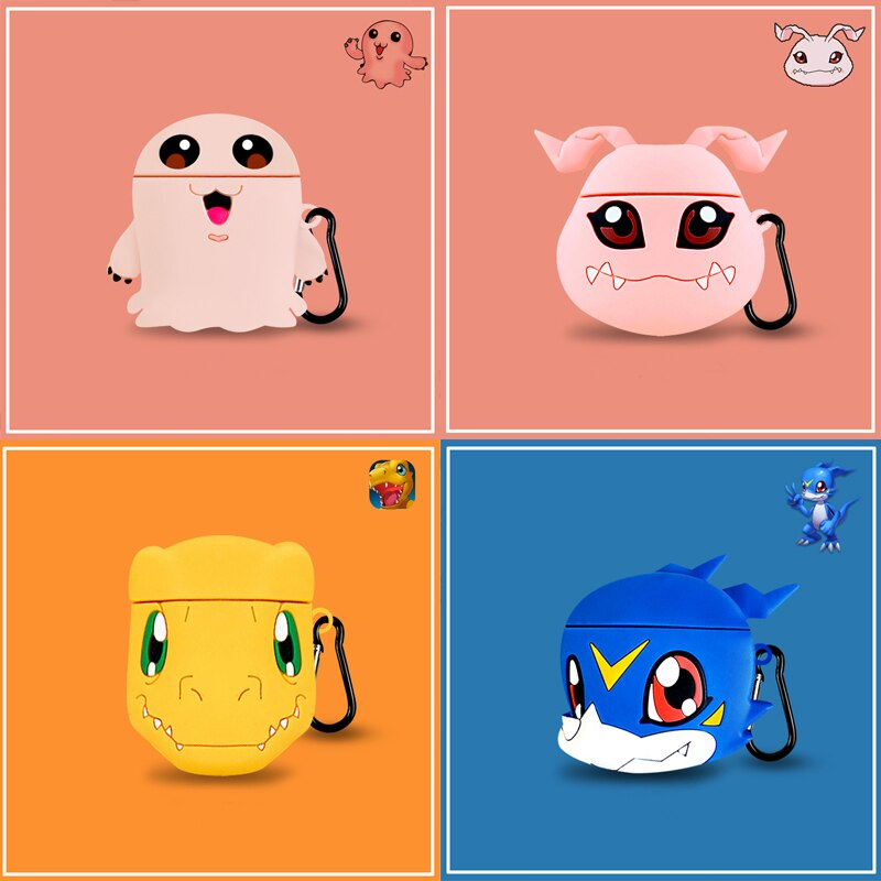 Fundas AirPods 1/2 Digimon Silicona
