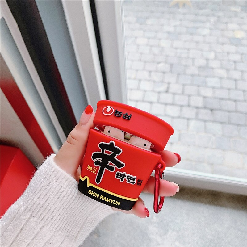 Funda AirPods 1/2 Shin Ramyun Bottle Silicona