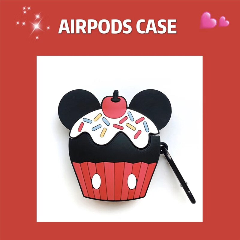 Funda AirPods 1/2 Cupcake Minnie & Mickey Silicona