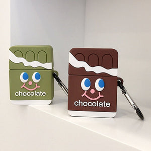 Fundas AirPods 1/2 Tabletas Chocolate Silicona