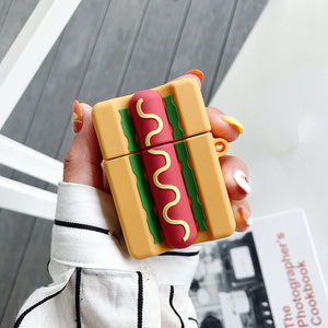 Funda AirPods 1/2 Hot Dog Silicona