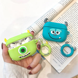 Fundas AirPods Pro Monstruos S.A Sulley & Mike Silicona