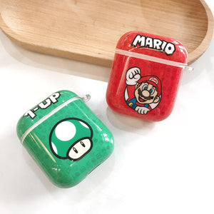 Fundas AirPods 1/2 Mario Bros & Toad