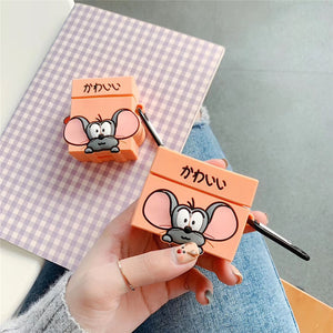 Funda AirPods Pro Lovely Mouse Animado Silicona