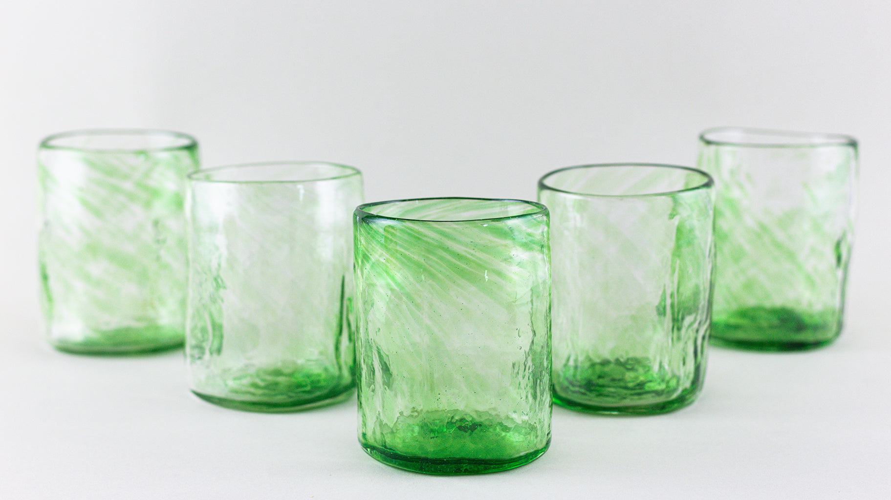Set of 2 tumblers, green
