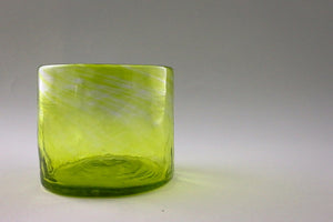 Set of 2 small glasses, green