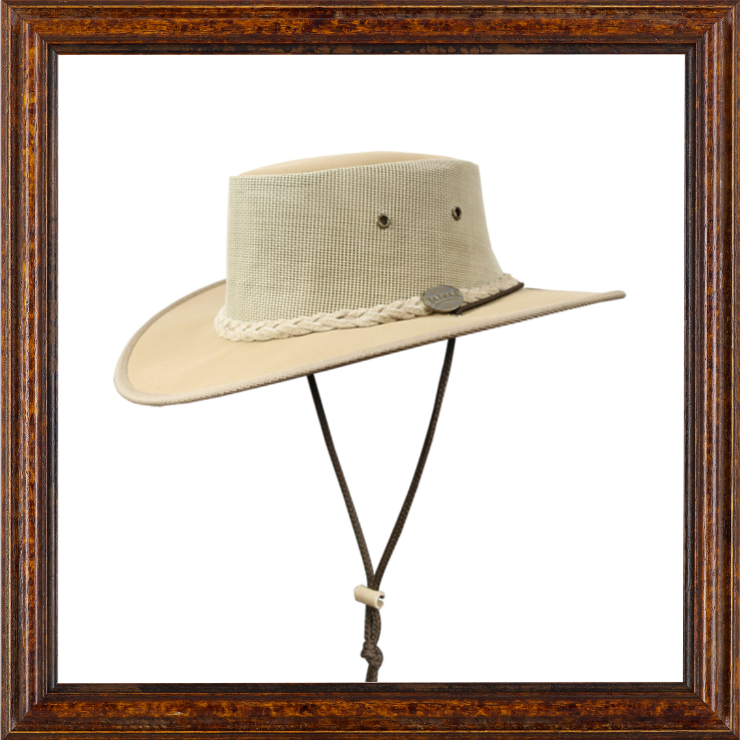 Canvas Drover Sunhat (Brown)