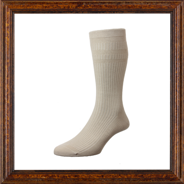 Men's Cotton Soft-Top Sock (Neutral Colours)