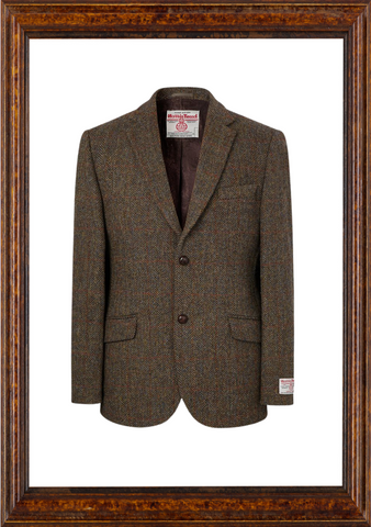 Mens Harris Tweed Jacket - Brown
