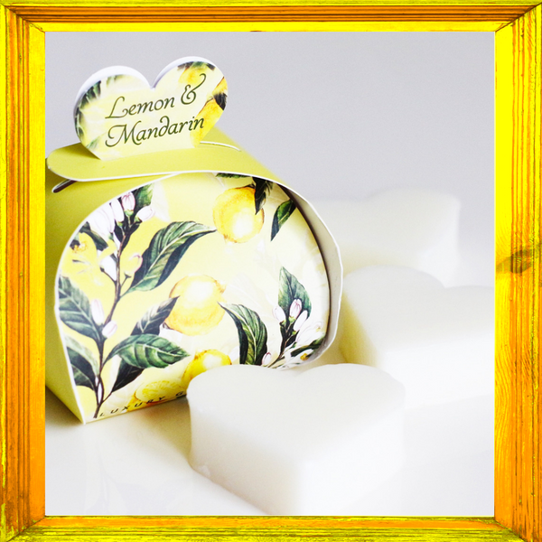 Lemon and Mandarin Luxury Guest Soaps