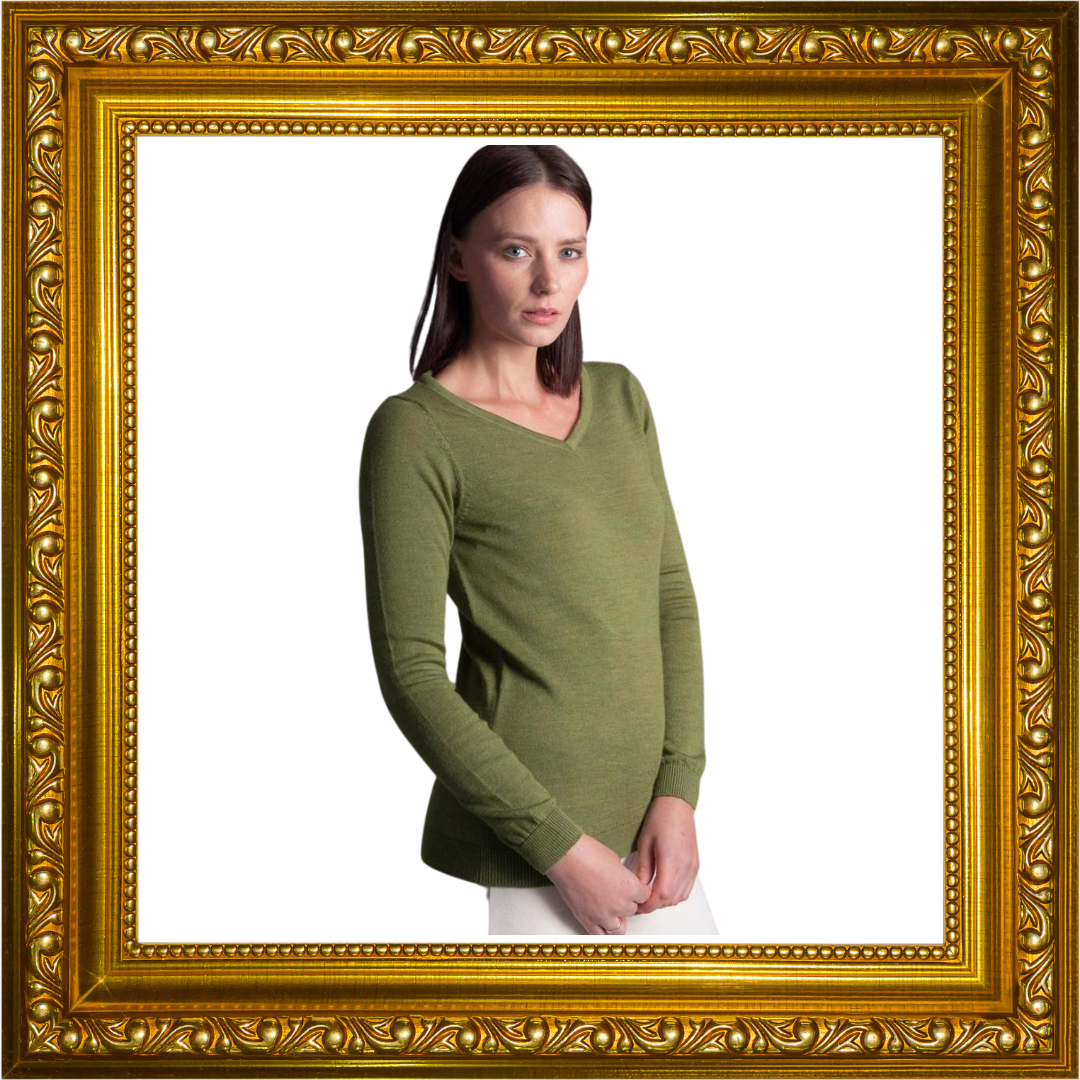 Lisa - Womens Pure Extra Fine Merino Wool V Neck Jumper