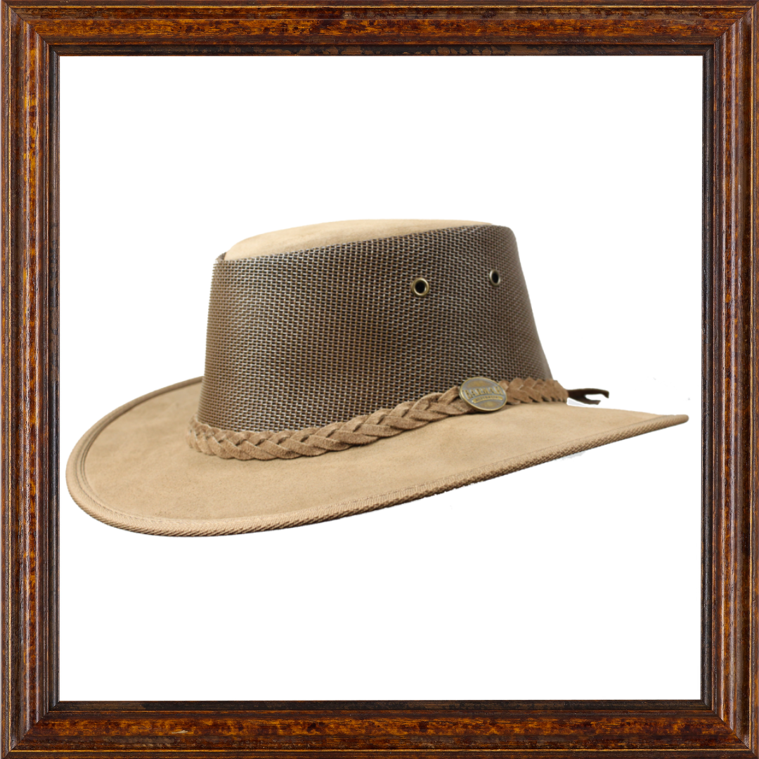 Foldaway Cooler - Leather Australian Hat (Hickory)